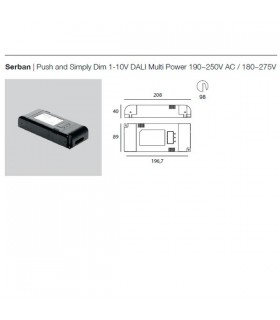 Serban Driver Push and Simply Dim 1-10V DALI Multi Power