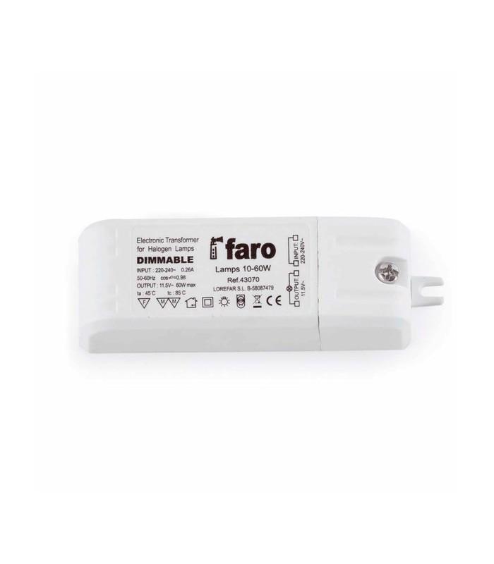 Transformador electrónico 60W Faro
